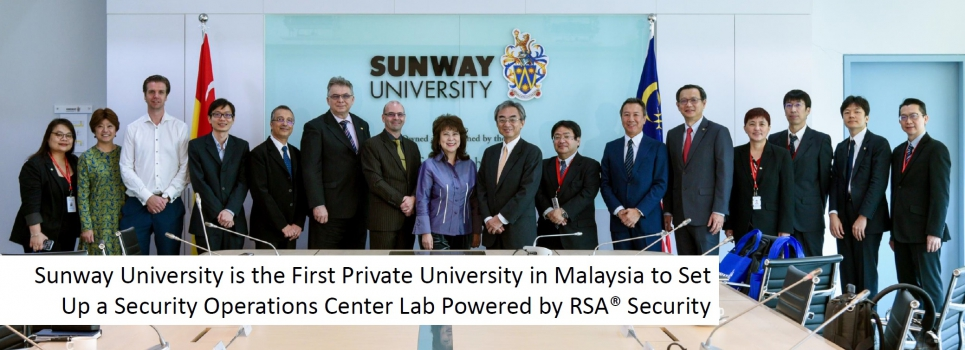 Sunway University is the First Private University in Malaysia to Set Up a Security Operations Center Lab powered by RSA®